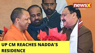 UP CM Reaches Nadda's Residence | Meeting With BJP Prez Amid UP Tumult | NewsX - NEWSXLIVE