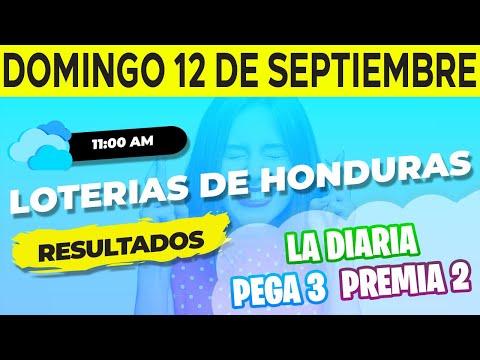 Sorteo 11AM Loto Honduras La Diaria Pega 3 Premia 2 Domingo 12 de Septiembre del 2021   Ganador