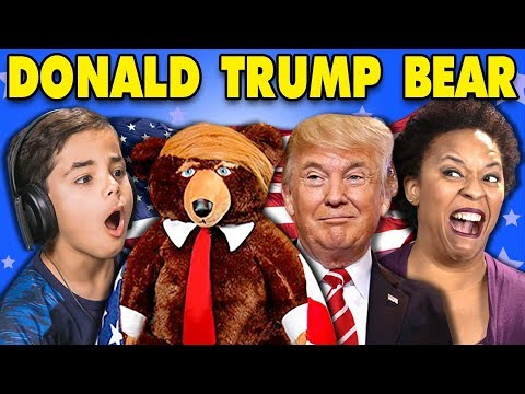 connectYoutube - GENERATIONS REACT TO DONALD TRUMP TEDDY BEAR?! (TRUMPY BEAR)
