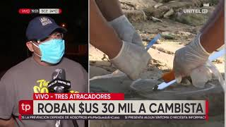 Cámaras filmaron a sospechosos de atraco a librecambista en la Av. Omar Chávez