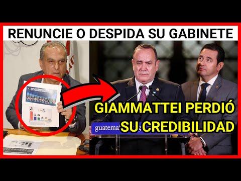 URGENTE MENSAJE AL PRESIDENTE GIAMMATTEI, EXIGEN SU RENUNCIA O DESPIDA SU GABINETE DE GOBIERNO