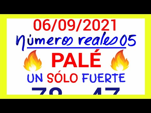 NÚMEROS PARA HOY 06/09/21 DE SEPTIEMBRE PARA TODAS LAS LOTERÍAS...!! Números reales 05 para hoy....!