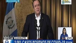 Presidente Giammattei informó sobre 89 nuevos casos de COVID-19