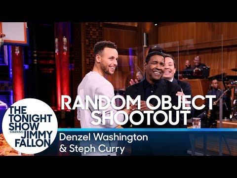 connectYoutube - Random Object Shootout with Denzel Washington and Steph Curry