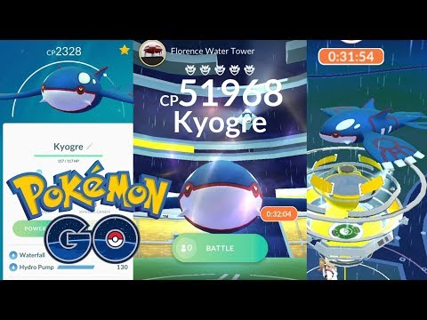 connectYoutube - KYOGRE DEFEATED by 3 TRAINERS in POKEMON GO! + NEW SALE & COMMUNITY DAY! (Pokémon GO Update News!)