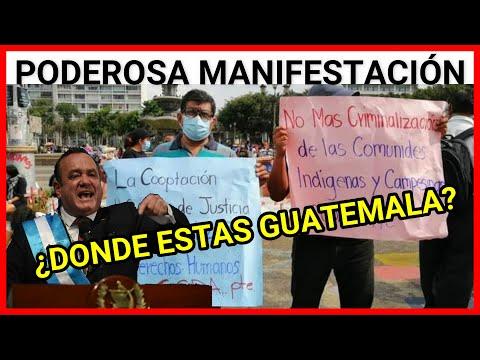 Urgente Guatemala, manifestación en contra de Alejandro Giammattei y su Gobierno 12/06/2021