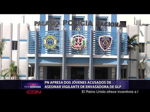 PN apresa dos jóvenes acusados de asesinar vigilante de envasadora de GLP