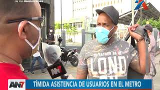 Tímida asistencia de usuarios en el Metro de Santo Domingo
