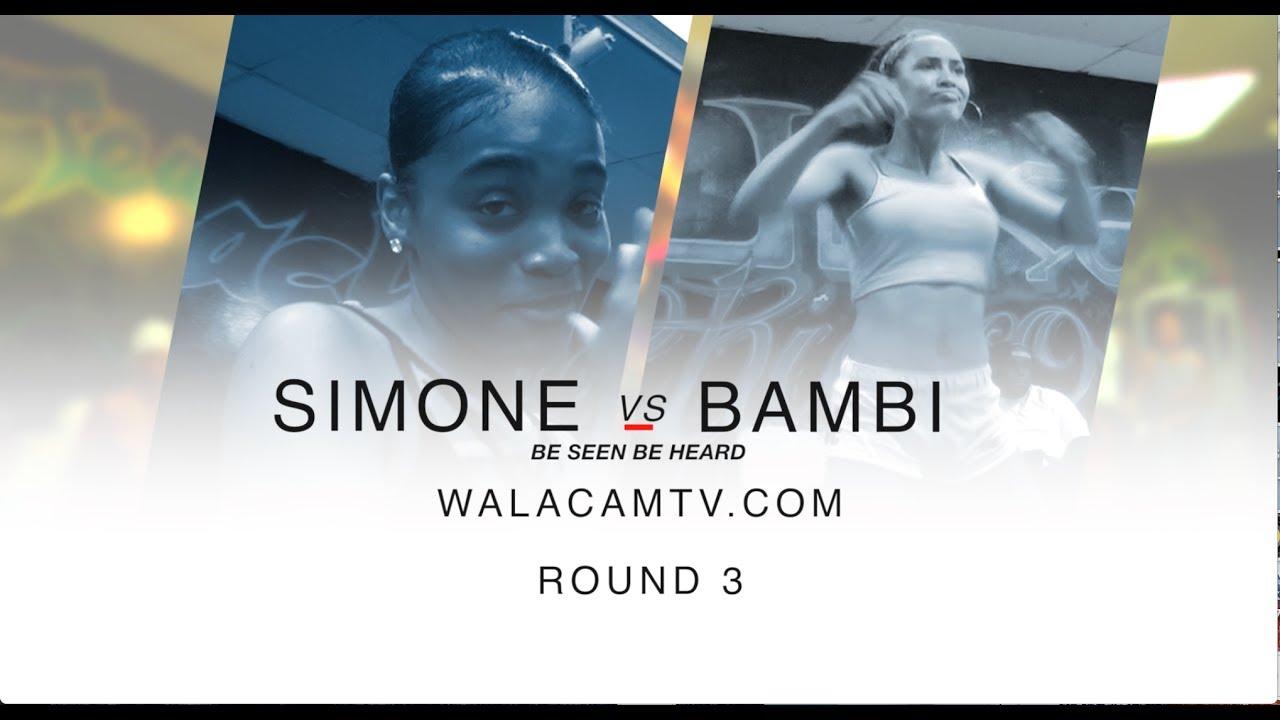 Walacamtv.com ITS ON!! BAMBIE VS SAMONE RD 3 @ FINAL PHAZE / DA WARZONE!!