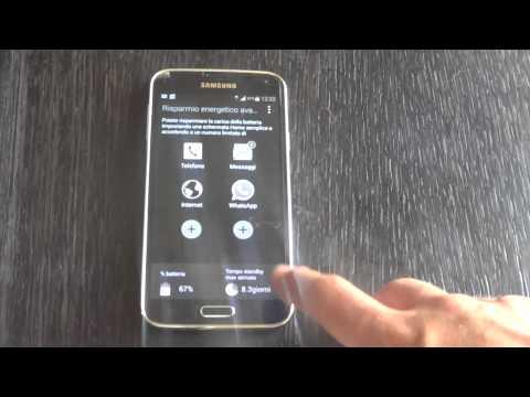 Come attivare la modalità di ultra risparmio energia sul Samsung Galaxy S5