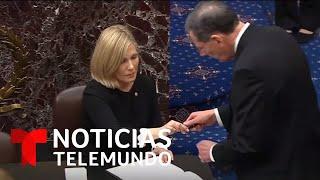 Ceremonia de juramentación del presidente de la Corte Suprema, quien supervisará el juicio a Trump