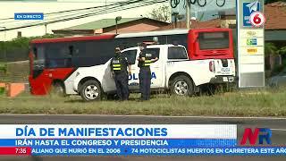 Caravanas de manifestantes irán hasta el Congreso y la Presidencia