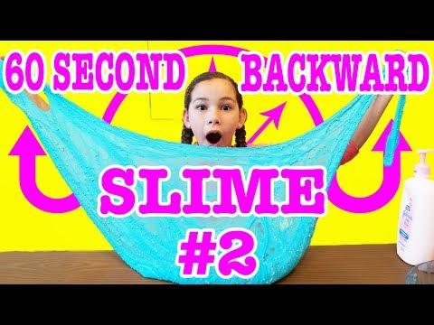 60 Second Backwards Slime Challenge #2