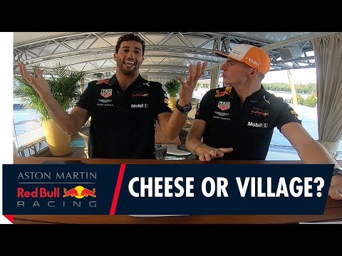 "Formaggio o Villaggio"" Max Verstappen and Daniel Ricciardo play a cheesy game!"