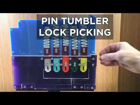 John Park's Gigantic Lockpicking Demo Model @adafruit @johnedgarpark #adafruit