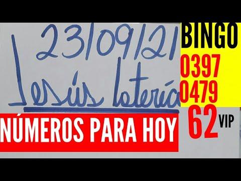 NÚMEROS PARA HOY 23/09/21 DE SEPTIEMBRE PARA TODAS LAS LOTERÍAS...!! Jesus loteria para hoy...!!