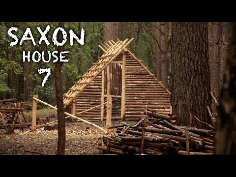 Building a Saxon House in the Forest with Hand Tools: Clay Walls | Bushcraft Project (Part 7)