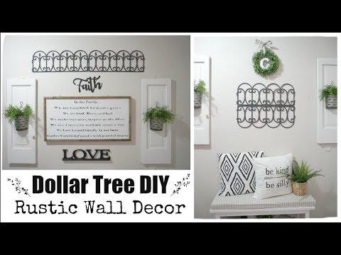 DOLLAR TREE DIY RUSTIC WALL DECOR | Momma from scratch