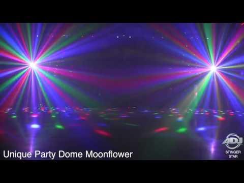 American DJ Stinger Star High Output 3 FX in 1 Moonflower, Chase, & Laser Effect Light