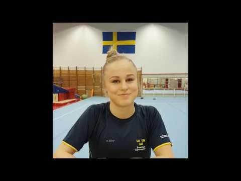 Jonna Adlerteg, inför VM i artistisk gymnastik 2018