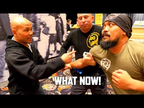 Wing Chun Master Meets US Marines and Cop | Master Wong