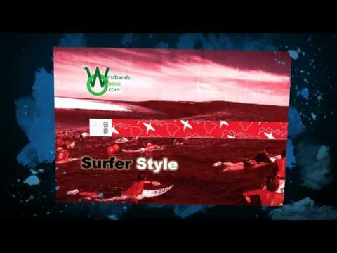3/4 Tyvek Surfer Style Wristbands