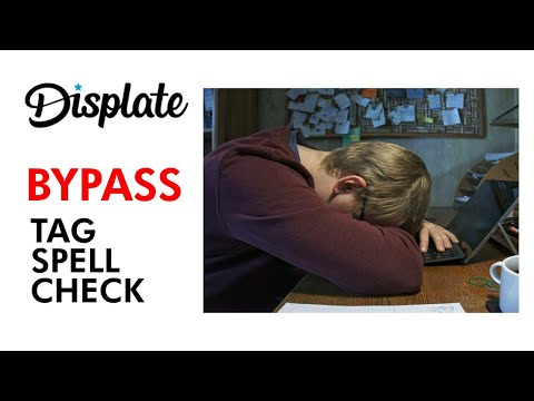 How To BYPASS The Displate TAG Spell Checker