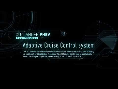 Aktiv farthållare (ACC) - Outlander Plug-in Hybrid (Eng)