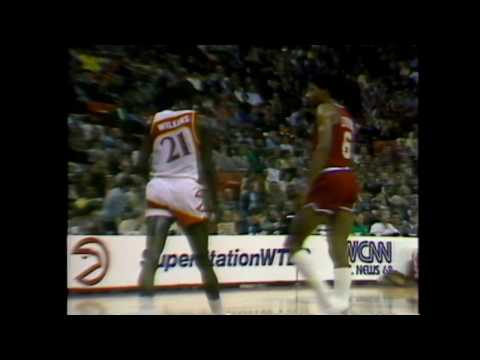 Dominique Wilkins and Julius Dr.J Erving's First Matchup | Hawks vs Sixers | 11.30.1982