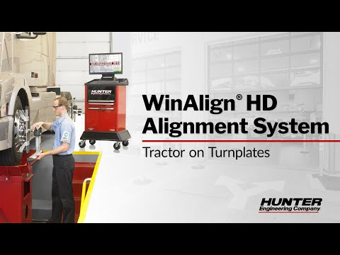 WinAlign HD Alignment System - Tractor on Turnplates
