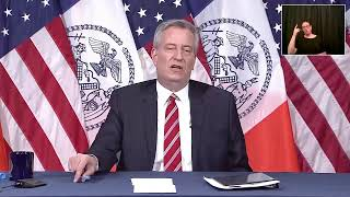 LIVE: Mayor Bill de Blasio gives an update on New York City's COVID-19 response