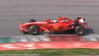 Ferrari Formula 1 SCREAMING V8  V10 Sounds!!