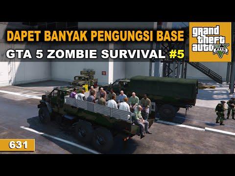 PERKUAT PERTAHANAN BASE   GTA 5 ZOMBIE SURVIVAL #631