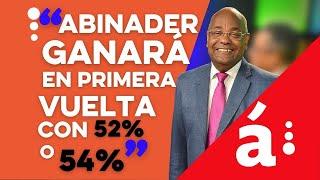 """""""Abinader ganará en primera vuelta con 52% o 54%"""""""