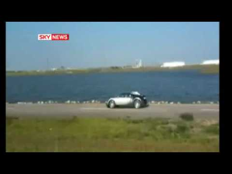 Bugatti Driven Into Lake