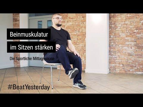 Beinmuskulatur im Sitzen stärken - Sportliche Mittagspause | #BeatYesterday