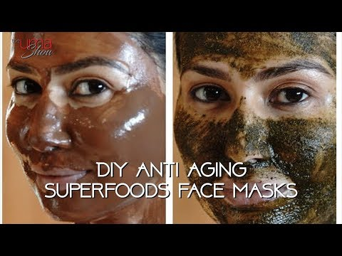 DIY Anti Aging Superfoods Face masks