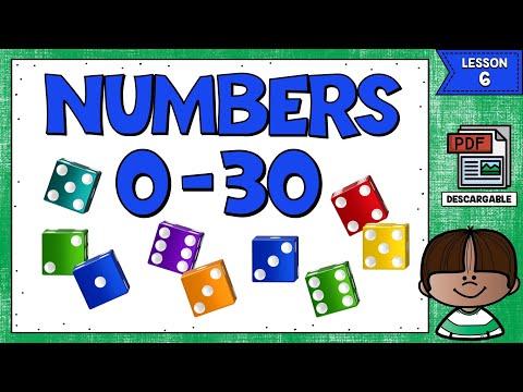 LECCIÓN 6: LOS NÚMEROS EN INGLÉS DEL 0 AL 30 - NUMBERS IN ENGLISH