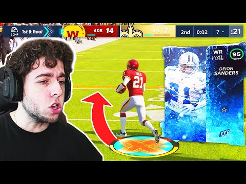 MY FIRST GAME WITH DEION SANDERS! Madden 21 Next Gen Ultimate Team