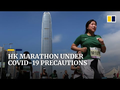 15,650 runners take part in first Hong Kong Marathon since Covid-19 pandemic