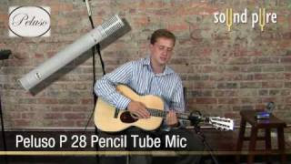 Peluso P28 Tube Pencil Microphones on Acoustic Guitar