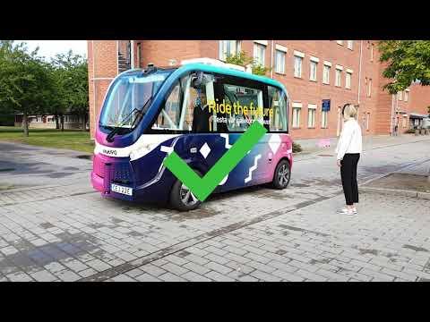 Säkerhet omkring de självkörande bussarna på Campus Valla, Linköping