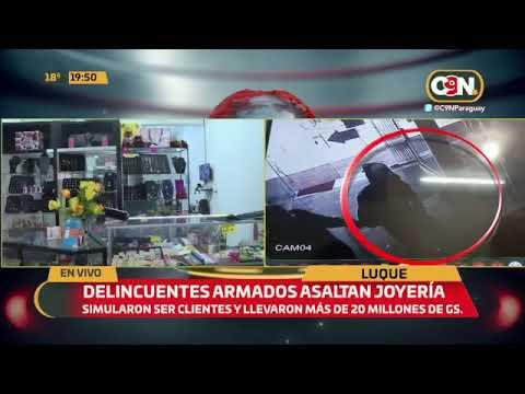 Delincuentes armados asaltan joyería en Luque.
