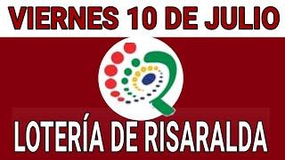 Resultados lotería de Risaralda 10 de Julio de 2020