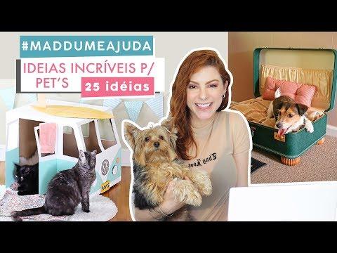 25 ideias DIY Incríveis p/ Pets – #Maddumeajuda