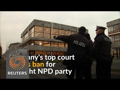 Top German court refuses to outlaw far-right NPD party