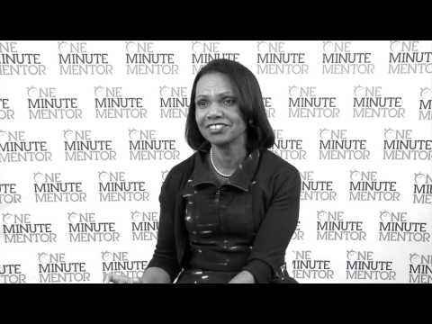 Hearst One Minute Mentor: Condoleezza Rice on Leadership