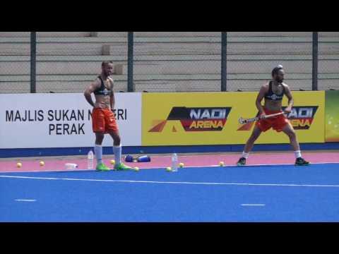India mens hockey short corner training session 3.