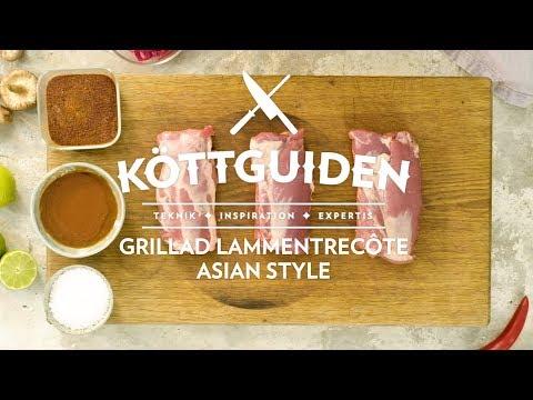 Köttguiden - Grillad lammentrecôte Asian style