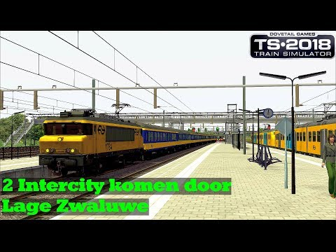 2 Intercity komen door Lage Zwaluwe  Train Simulator 2018